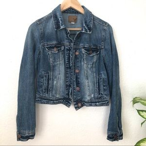 AEO Distressed Denim Jean Jacket